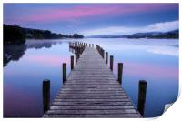North Jetty at Coniston Water, Print