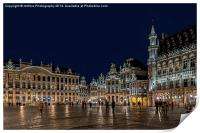 "Brussels ""Its a Grand Place"", Print"
