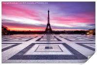 Paris Sky on Fire, Print
