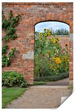 Entrance to the walled garden, Print
