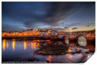 Tavira At Night, Print