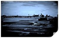 Liverpool Waterfront In The Distance, Print