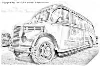 Old Fashioned Bus, Print