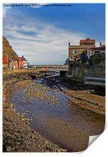 To The Harbour Mouth Staithes, Print