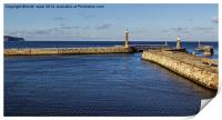 Entrance To Whitby Harbour , Print