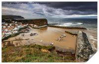 Staithes from the East cliff, Print