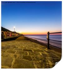 saltburn as the sunsets, Print