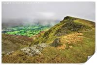 The clouds came in around Blencathra, Print