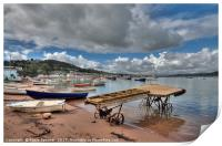 The old boat launch on Teignmouth Back Beach , Print