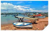 Teignmouth Back Beach on the River Teign in Devon, Print