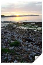 Late evening sunset in Lossiemouth, Print