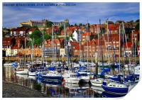 Whitby Harbour, North Yorkshire, Print