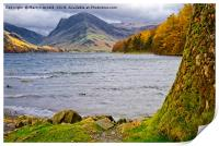 Autumn at Buttermere in the Lake District, Print