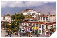 Potala Palace from the Jokhang Temple in Lhasa, Print