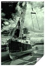 High and Dry at Goodwick Harbour, Print