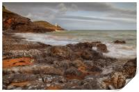 Bracelet Bay and Mumbles lighthouse, Print