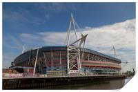 Welsh Rugby Union Stadium, Wales, Print