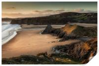 Three Cliffs and The Great Tor, Print