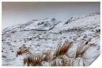 Snow capped mountain beauty of the Brecon Beacons, Print