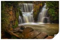 The waterfall at Penllergare, Print