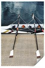 The scull lies ready for its crew., Print