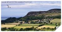 Typical North Wales countryside, Print