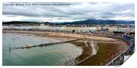 Unusual view of Llandudno's sea front, Print