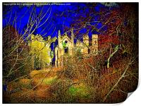 Cambusnethan Priory , a Haunted Look, Print