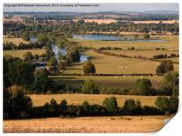 Dorchester-on-Thames from Wittenham Clumps, Print