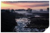 Foggy Sunrise At Chasewater, Print