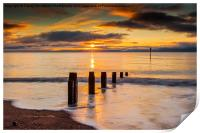 Beach Golden Sunrise, Print