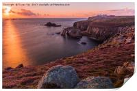 Lands End Sunset, Print