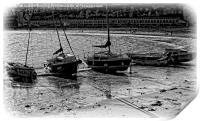 Beached Boats, Print
