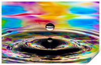 water drops bubbles an crowns, Print