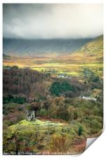 Dolbadarn Castle - A view from above, Print