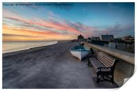 Stunning Sunset Over Chesil Cove, Print