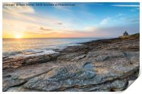 Sunrise at Howick in Northumberland, Print