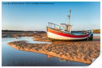 Fishing Boats at Burnham Overy Staithe, Print