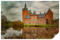 Vallo Castle with Reflection, Print