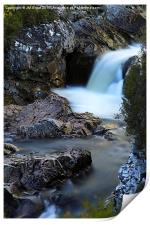 The River Coupall Waterfall , Print