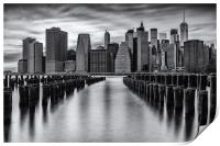 A New York Minute - Manhattan NYC Skyline, Print