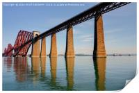 The Forth Bridge, South Queensferry, Scotland, Print