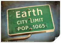 Welcome to Earth, Print