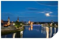 Inverness in the Moonlight, Print