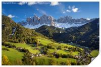 Val di Funes and the Dolomites, Print