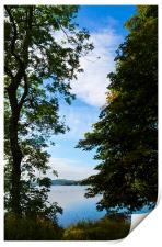 A Peek At Coniston Water, Print