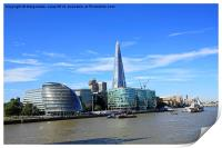 London cityscape with the Shard, England, UK, Print