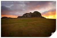 Haytor on fire, Print