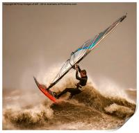 Windsurfing the Storm , Print