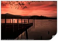 """""""Sunset at the Jetty"""", Print"""